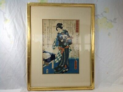 Original Japanese Utagawa Kunisada Wood Block Printed
