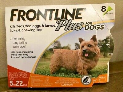 Frontline Plus Flea & Tick For Small Dogs 5-22 lbs - 8 Doses