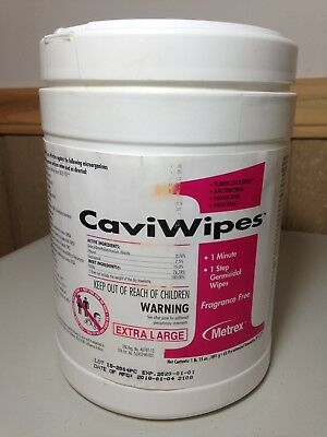 5 -CaviWipes Multi-Purpose Disinfectant Pull-Up Wipes Extra Large-New and Sealed