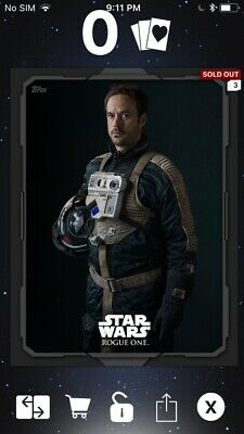 Topps Star Wars Digital Card Trader Rogue One Draven Shadow Portraits Insert