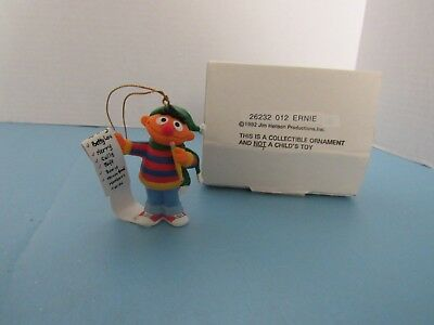 Sesame Street Ernie Grolier Christmas Ornament 1992 Jim Henson Productions Inc.