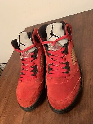 hot sales bd14b 0af33 Nike Air Jordan Retro 5 DMP Raging Bull Red Suede Size 11 100% Authentic