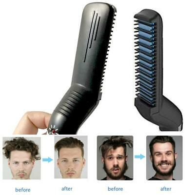 Men's Hair Straightener Comb Curling Electric Brush Beard Styling Straightening