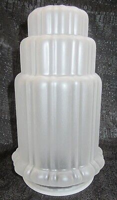 """Frankart 3-1/8"""" dia fitter lamp globe replacement art deco frosted clear glass"""
