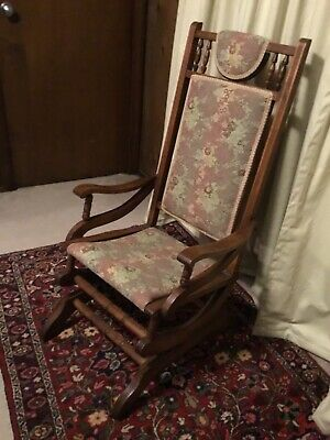 Victorian early rocker, rocking chair, eastlake platform style, excellent!
