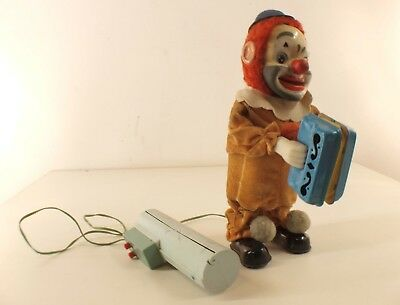 Yonezawa Japan clown accordeon battery Happy'n sad magic moteur piles 26 cm