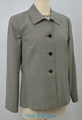 Austin Reed light jacket houndstooth tweed blazer suit coat womens worsted SZ 10