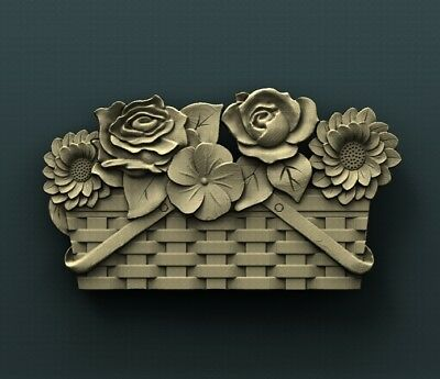 3d STL Model Relief for CNC Router Aspire _ (0387) Flowers