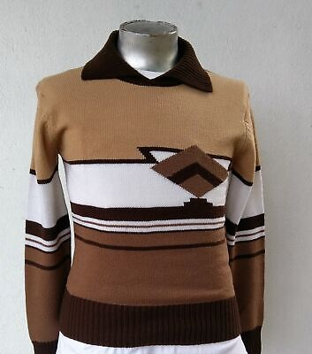 Men's 70's Acrylic pullover by 'Greentree', USA, size S-M