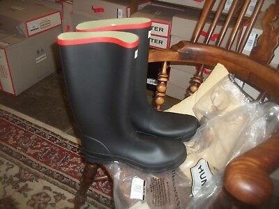 Hunter Wellies Wellingtons  In Halifax Argyll Black/Red Size 11  Full Knee