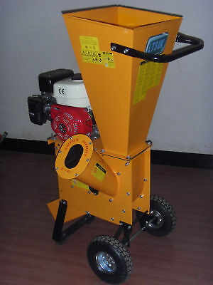 "6.5Hp RECOIL START PETROL GARDEN SHREDDER 3"" WOOD CHIPPER MULCHER"