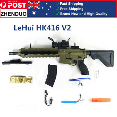 LeHui HK416 V2 Water Gel Ball Blaster Mag-fed Toy Gun Water Bullets Adult Size