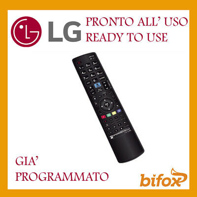 Telecomando Tv Lg Universale Compatibile Gia Programmato Pronto Led Lcd 3D Smart