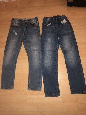 Two pairs of Boys Zara adjustable waist Jeans Aged 5-6 Years