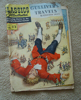 Vintage Classics Illustrated #16 Gulivers Travels HRN 129 British