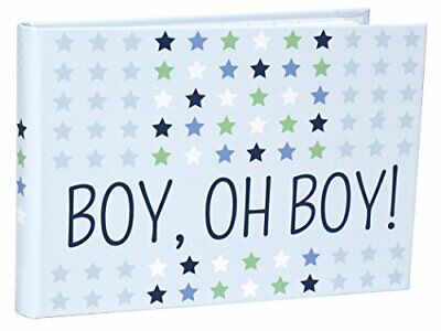 Malden International Designs Boy Oh Boy Juvenile Blue with Silver Metal Border Picture Frame Blue 4147-46 4x6