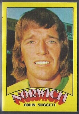 A&Bc-Football 1974 Red Back Rub Coin-#037- Norwich City - Colin Suggett
