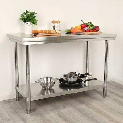 Stainless Steel Catering Table 2Ft X 4Ft Bench Kitchen Worktop Commercial Wido