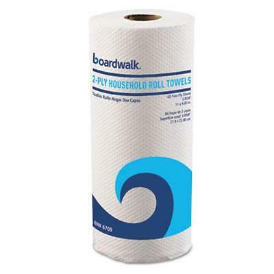 """Boardwalk 6709 Household Perforated Paper Towel Rolls, 2-ply, White, 9"""" X 11"""","""