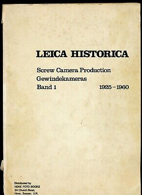Leica Historica very rare book with Leica production details for collectorsL149*