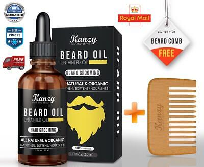 Beard Grooming Kit Oil Mustache & Beard Comb & Scissors