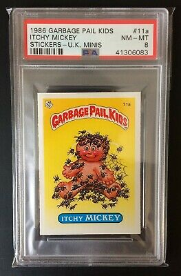 Itchy Mickey 11a UK Garbage Pail Kids Series 1 (1985)PSA 8 NEAR MINT/MINT ~Topps