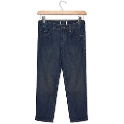 Boys Straight Leg Blue Denim Jeans Plus Fit & Regular Casual Kids