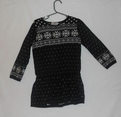 0b6e50e3bbf EUC HANNA ANDERSSON Girls Sz 4 Black Fair Isle Drop Waist Sweater Dress Was   48