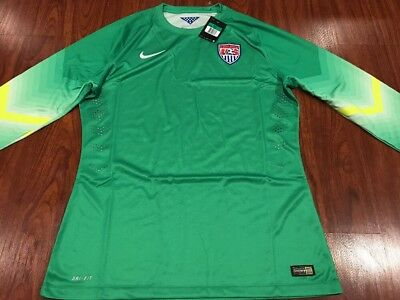 8e3e4c7eed4 2014 Nike Men s World Cup US USA Soccer Goalkeeper Jersey Player Version XL