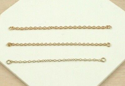 9ct Yellow Gold Heavyweight 2.75 Inch Bracelet Safety Chain (Quantity X 1)