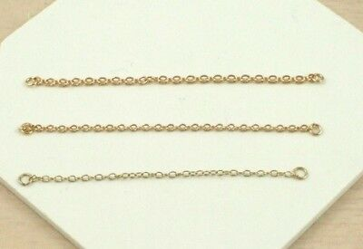 Solid 9ct Yellow Gold Lightweight 2.5 Inch Bracelet Safety Chain (Quantity X 1)