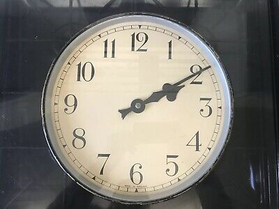 ENGLISH 1950s  Industrial Office Midcentury Vintage Retro Factory Clock