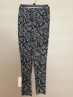05f4335159424b NWT) HUE WOMEN'S Black Zebra Jersey Relaxed Leggings Size XS - $9.99 ...