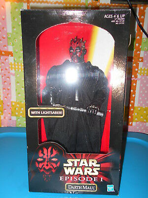 STAR WARS NEW Episode 1 DARTH MAUL Action Figure with Lightsaber! Fully Poseable