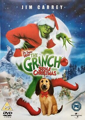The Grinch - Christmas Dvd With Jim Carrey - Fast And Free Delivery