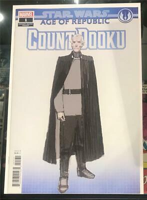 Star Wars Age of Republic Count Dooku #1 Concept Variant 2019 UR 1st Print