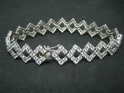 733a8d9a5 925 STERLING SILVER and cubic zirconia bracelet from H. Samuel boxed ...