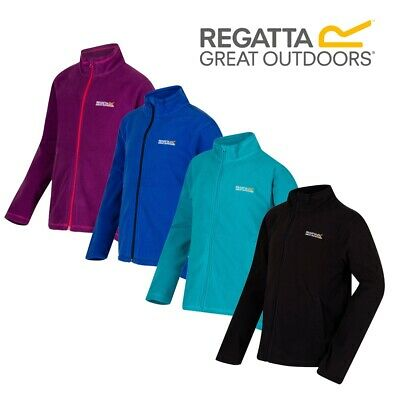Regatta Junior Kids Boys Girls Full Zip Fleece Childrens Outdoor Clothing Jacket
