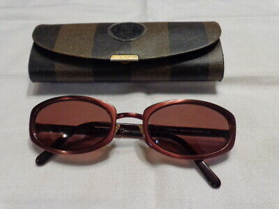 0b142ff6ecdc VINTAGE FENDI SUNGLASSES FS 140 Antique Bronze 55 18 Bellisimo ...