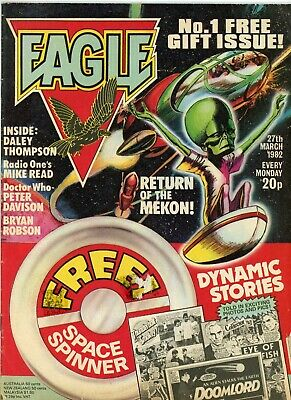 Eagle Comic #1 27th March 1982 - Return of the Mekon Doctor Who Peter Davison