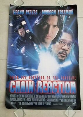 Chain Reaction movie poster  -  Keanu Reeves, Morgan Freeman