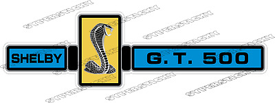 Cobra Shelby Ford Mustang GT 500 Racing Vinyl Sticker Decal Car Bumper Truck