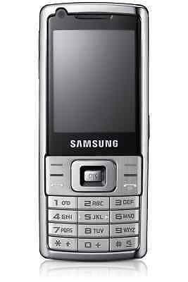 Samsung SGH-L700 in Silbger Handy Dummy Attrappe - Requisit, Deko, Ausstellung