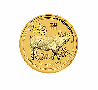 2019 $15 1/10oz Gold Australian Year of the Pig .9999 BU