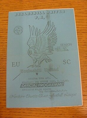 09/08/1989 Eccleshill United v Halifax Town [Friendly] .  We are pleased to be a