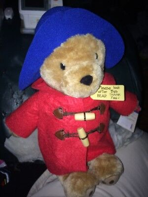 Official Paddington Bear 10 Inch Plush Red Coat Blue Hat With Tags
