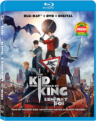 THE KID WHO WOULD BE KING (2018) [Blu-ray+DVD+Digital] New !! (Free Shipping)