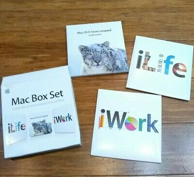 NEW* MAC MC681 Box 5 users OSX Snow Leopard 10 6 iLIFE iWORK