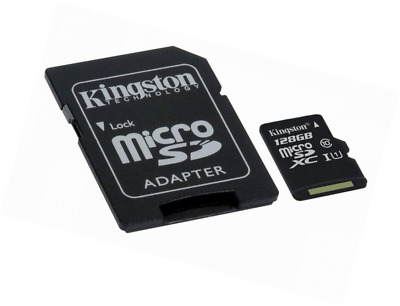Kingston SDCS/128 GB MicroSD Canvas Select Class 10 UHS-I - SD Adapter Included