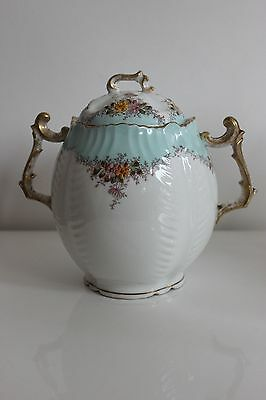 Antique vintage sugar pot french porcelain France